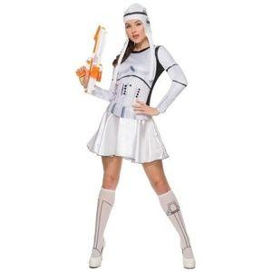Star Wars Womens Stormtrooper Dress Costume Sz. L